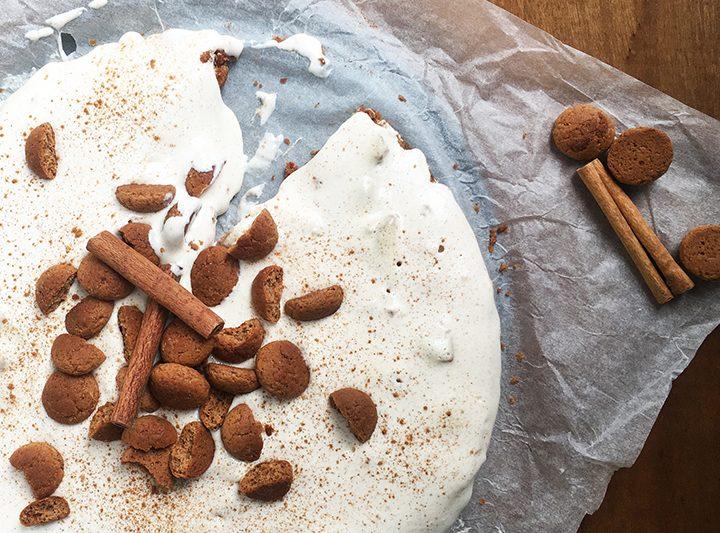 Pepernoten-yoghurttaart