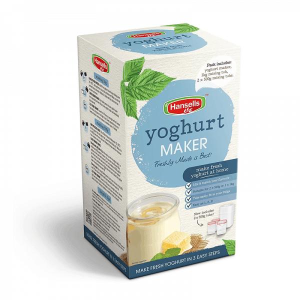 Hansells yoghurtmaker verpakking