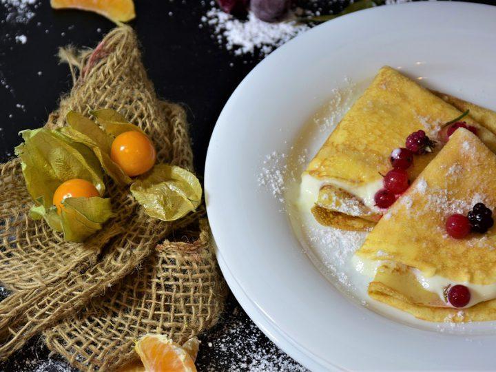 Crêpes met Vegan Vanille Yoghurt