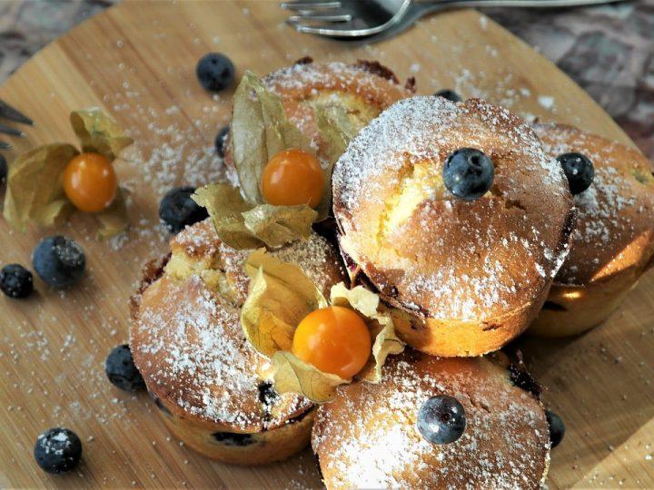 Bosbessen muffins met Chinese five-spice